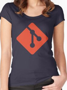 Git - Red logo Women's Fitted Scoop T-Shirt