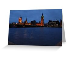 Westminster at Night Greeting Card
