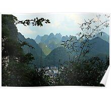 MoonHill, Yangshuo, Guangxi, China Poster