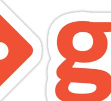 Git - Red logo Sticker