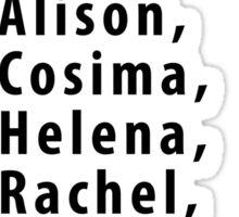Clone Names (With Krystal) - Orphan Black Sticker