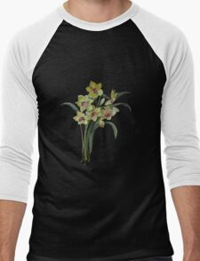 Lent Lily Isolated Men's Baseball ¾ T-Shirt