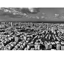 Tel Aviv center in black and white Photographic Print