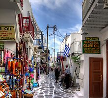 Mykonos Shops - iPhone Case by Tom Gomez