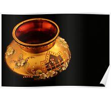Golden Vase Poster