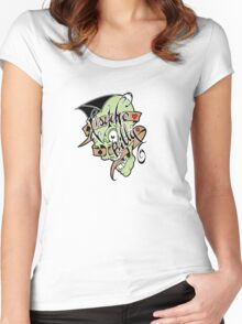 Psychobilly scolled Women's Fitted Scoop T-Shirt