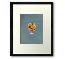 Leo Dinosaur Zodiac Framed Print