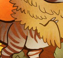 Leo Dinosaur Zodiac Sticker