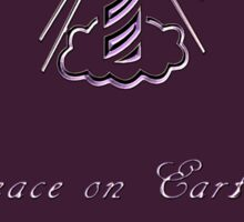 Peace on Earth and Goodwill to All (Purple) Sticker