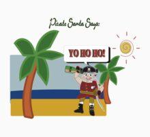 Pirate Santa says Yo Ho Ho Kids Tee