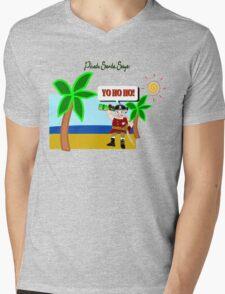 Pirate Santa says Yo Ho Ho Mens V-Neck T-Shirt