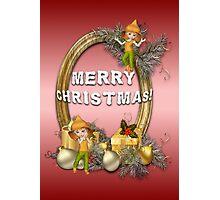 A Fairy Merry Christmas Photographic Print