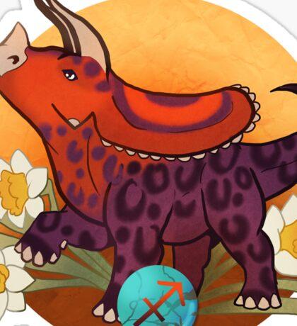 Sagittarius Dinosaur Zodiac Sticker