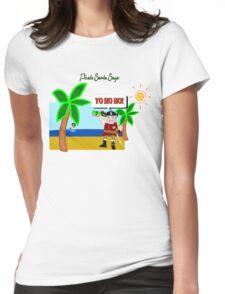 Pirate Santa says Yo Ho Ho - Muriel Cameo Womens Fitted T-Shirt