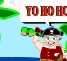 Pirate Santa says Yo Ho Ho - Muriel Cameo Sticker