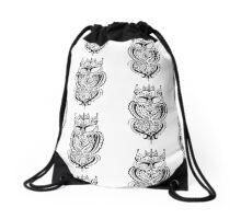 Fancy Owl Drawstring Bag