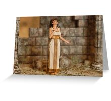 Greek Ruins Greeting Card