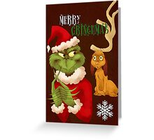 Merry Grinchmas Greeting Card