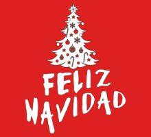Feliz Navidad with Tree Kids Tee