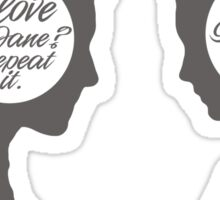 Jane Eyre - talking heads Sticker