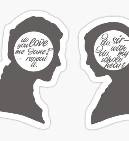 Jane Eyre - talking heads Sticker
