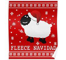 Fleece Navidad Cute Christmas Tshirt Poster