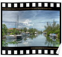 Nostalgia Collection • Islands of The Bahamas • River Scenery in Coral Harbour Town on New Providence Island Poster
