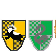 8-Bit Hogwarts Houses by Look Human