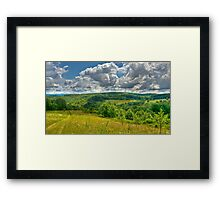 Walking into the Clouds Framed Print