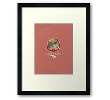 Capricorn Dinosaur Zodiac Framed Print