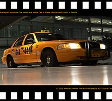 Nostalgia Collection • The Americas • Yellow Cab at Miami International Airport in Florida by Jeremy Lavender Photography