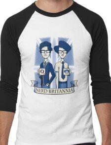 Nerd Britannia Men's Baseball ¾ T-Shirt