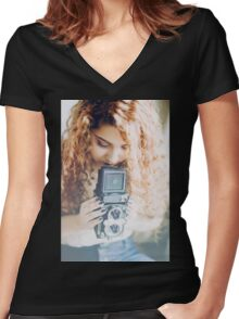 rust and stardust Women's Fitted V-Neck T-Shirt