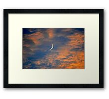Lunar Sunset Framed Print