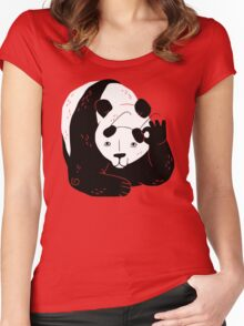 Panda Glasses Women's Fitted Scoop T-Shirt