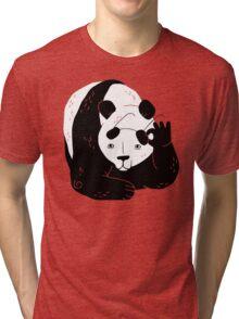 Panda Glasses Tri-blend T-Shirt
