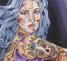 Big Tattoo Woman by gailmiller