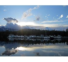 Boat Line Up Photographic Print