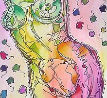 Colourful Nude Torso by gailmiller