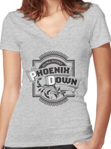 Dr. Cid's Phoenix Down Women's Fitted V-Neck T-Shirt