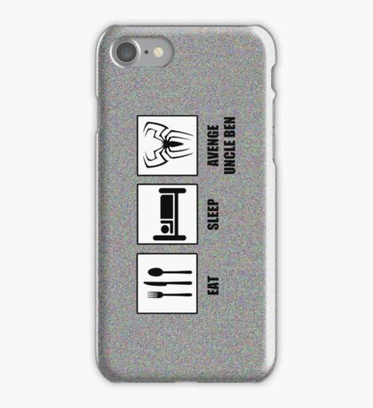 Eat Sleep Avenge Uncle Ben iPhone Case/Skin