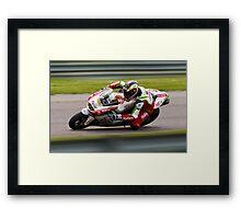 British Superbike rider Martin Jessopp Framed Print