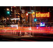 Broadway at Night Photographic Print