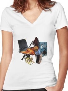 Harry Potter in Watercolour Version 2 Women's Fitted V-Neck T-Shirt