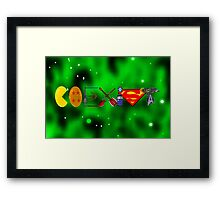 Coexist 2.0 with background Framed Print