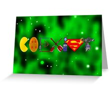 Coexist 2.0 with background Greeting Card