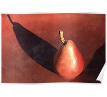 Red Pear Poster