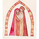 Christmas nativity scene: Jesus Christ , Joseph, Mary by vimasi