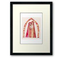 Christmas nativity scene: Jesus Christ , Joseph, Mary Framed Print