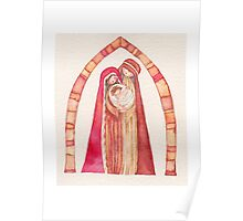 Christmas nativity scene: Jesus Christ , Joseph, Mary Poster